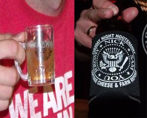 Image of Tuesday Night Hootenanny Shot Glass Mug & Can Coolie