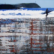 Image of Polzeath Beach, Winter Reflections.