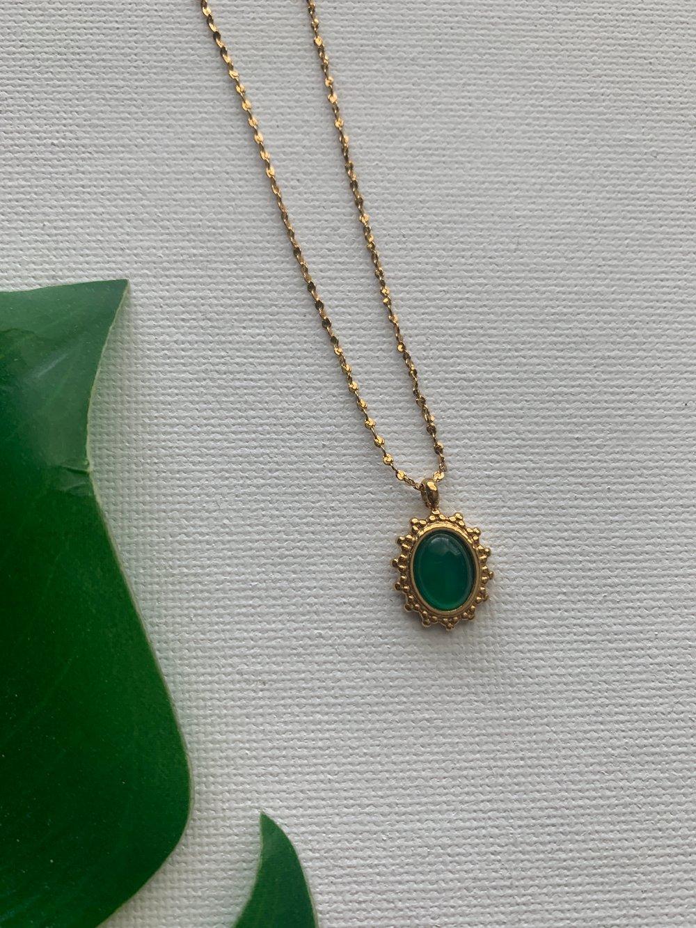 Image of FERTILE GROUND • Jade Burst Necklace