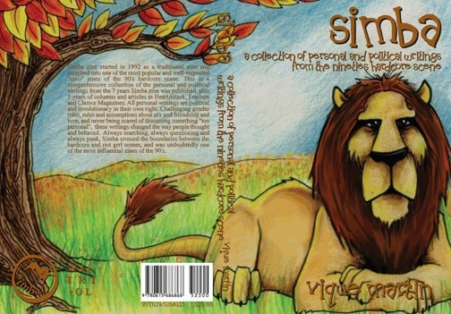 """Image of Vique Martin """"Simba: A Collection of Personal and Political Writings from the 90s Hardcore Scene"""""""