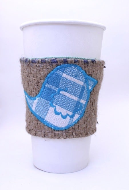 Image of Coffee Cozy Blue Bird