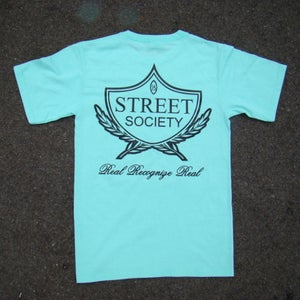 Image of THE STREET SOCIEY LOGO SHIRT IN BLACK/ON MINT