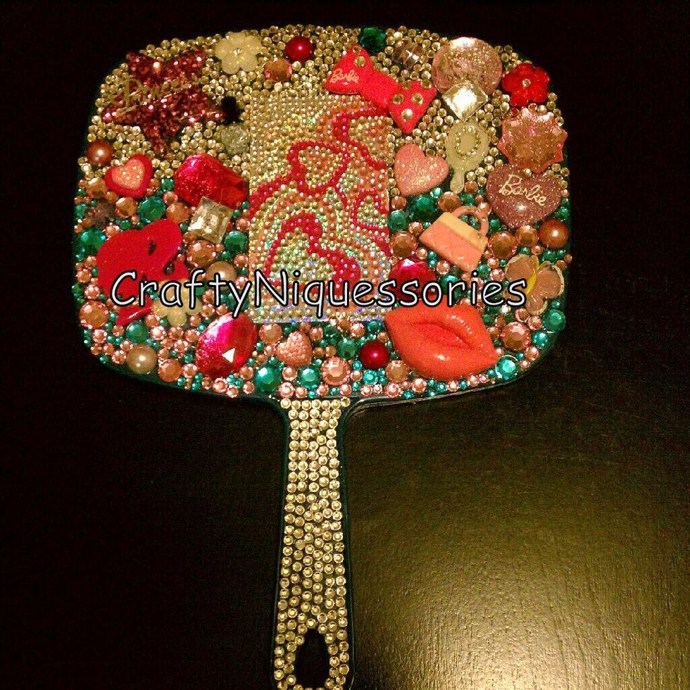 Image of ♥Barbie Blinged out hand mirror ♥