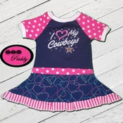 Image of **SOLD OUT** I Love My Cowboys Dallas Cowboys Dress - Size 18/24m/2T