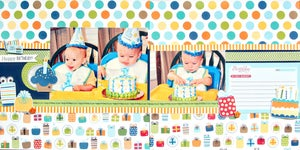 Image of Birthday Boy Double Page Layout Kit