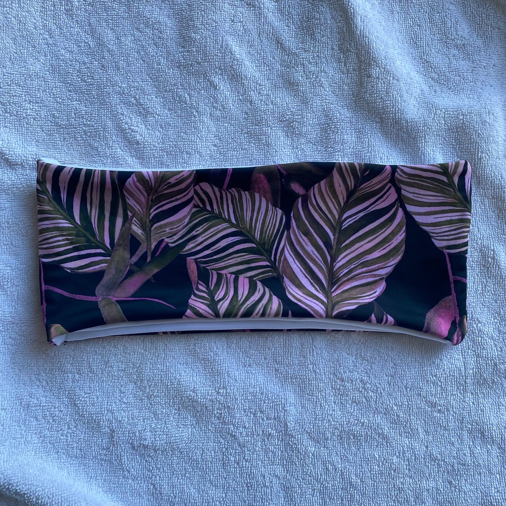 Image of SAMPLE BANDEAU : JUNGLE AFTER HOURS X WHITE