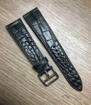 Image of Degradè Double Grey Alligator Watch Strap - Horizontal Cut -