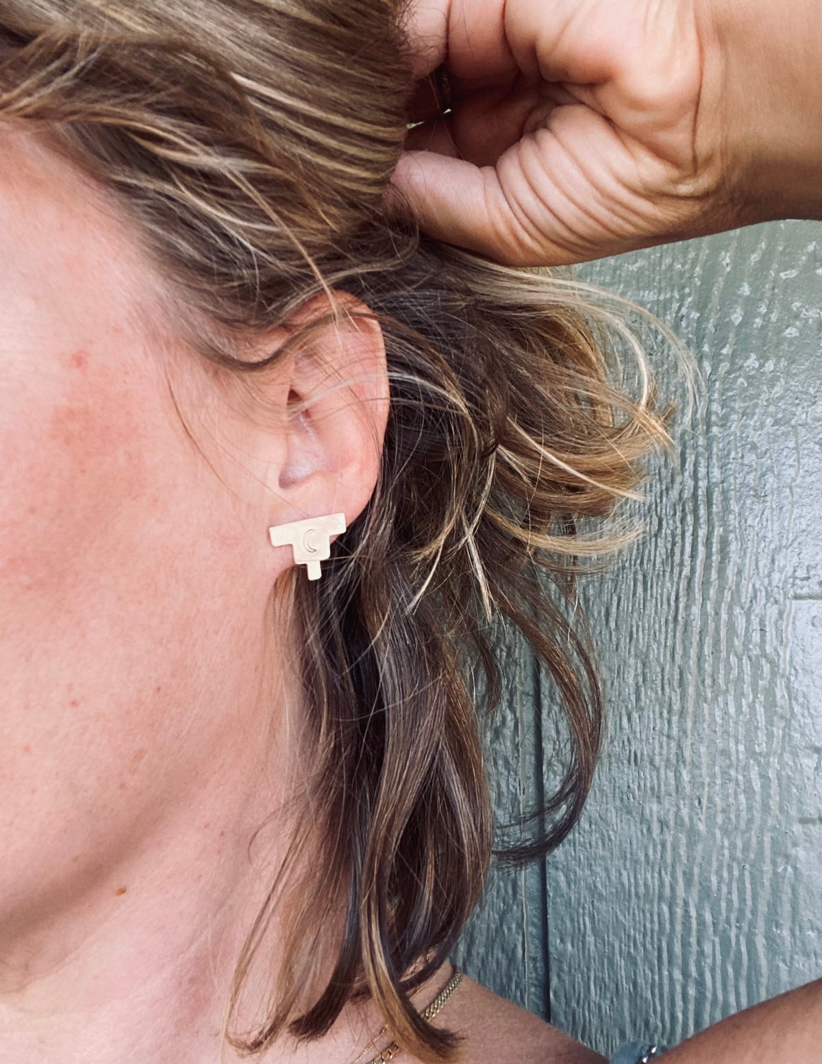 Image of Small Sterling Silver Pueblo Studs