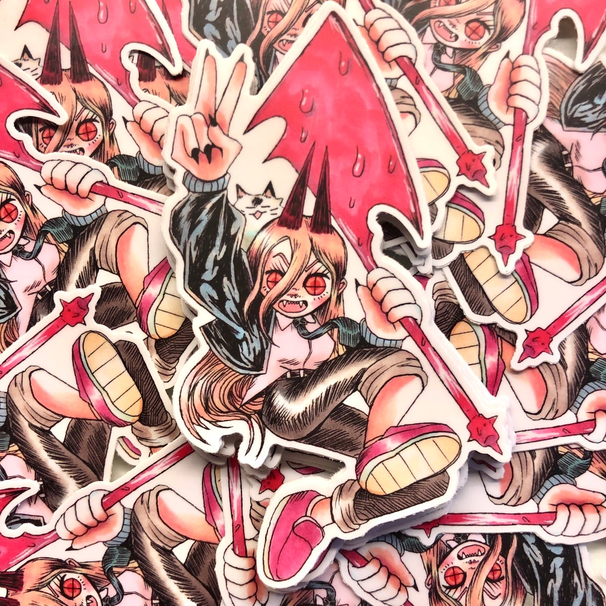 Image of Power Chainsaw Man Sticker