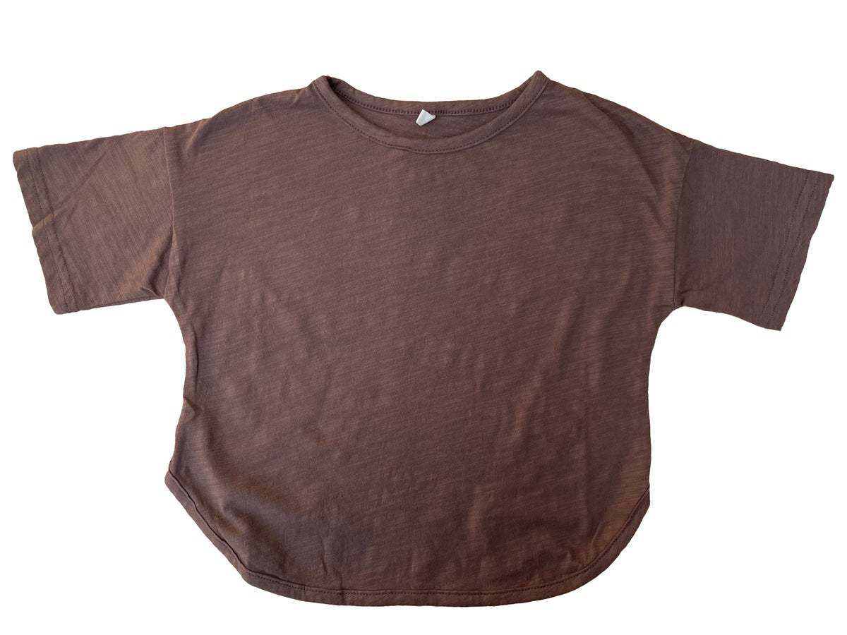 Image of Bamboo Cotton Short Sleeve T-shirt. Brown (was £14)