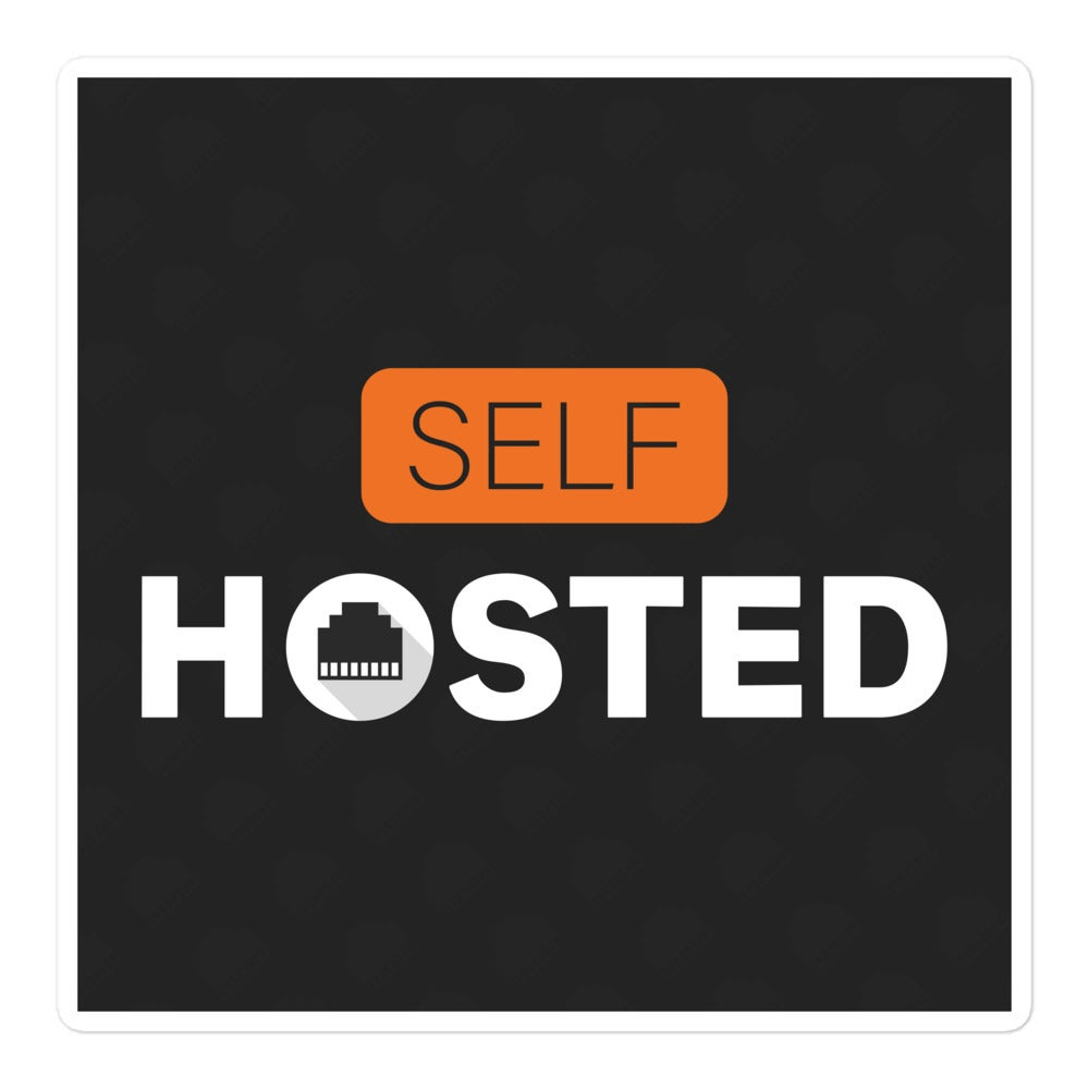 Self-Hosted Square Sticker