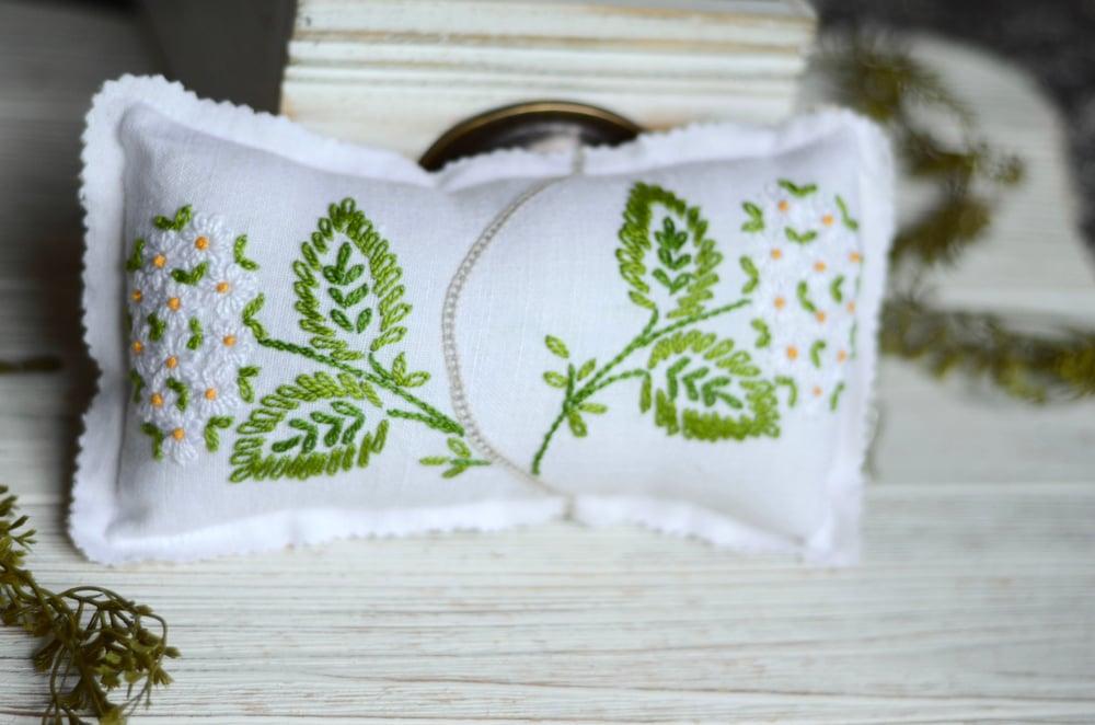 Image of Daisy pillow/ headband set