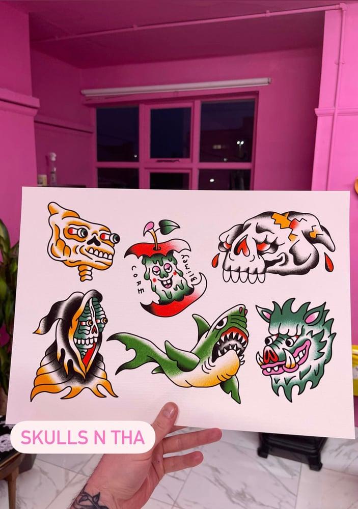 Image of Skulls n Tha Print
