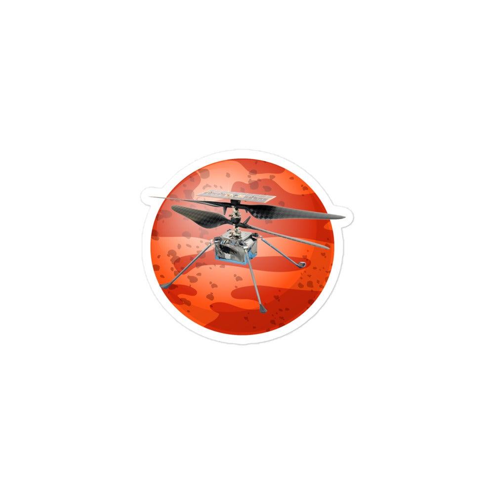 Linux Flies on Mars Sticker