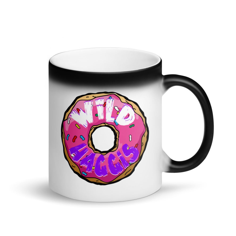 """""""All The Donuts In The World"""" Matte Black Magic Mug"""