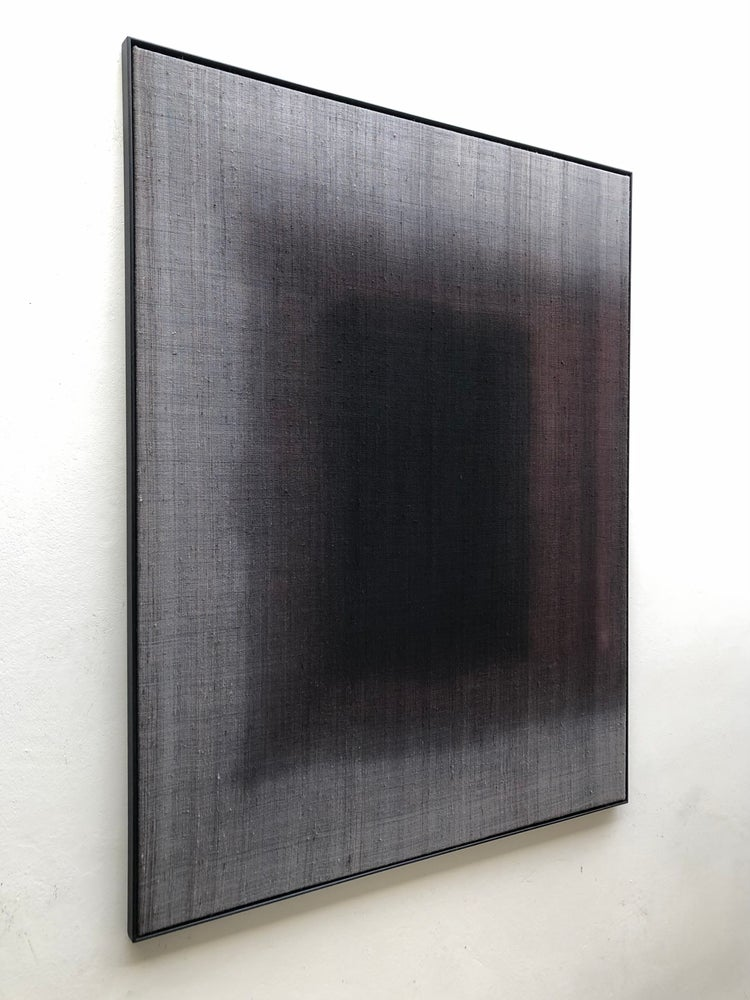Image of abstract dipdyed composition in silk