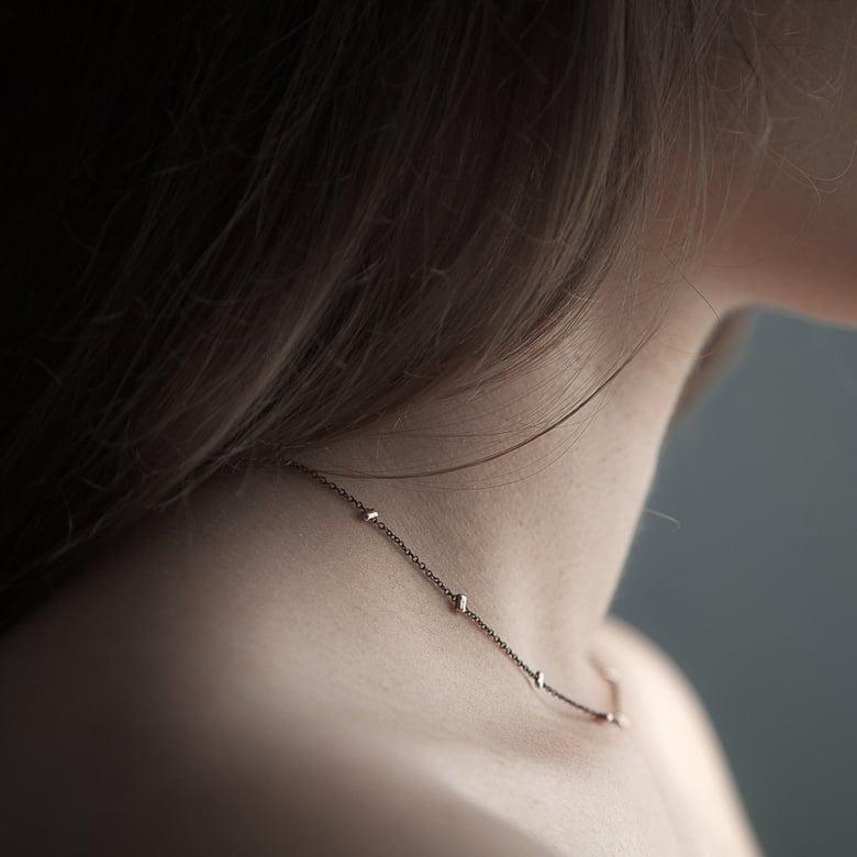 Image of Collier simple / Ras du cou Blue Metal