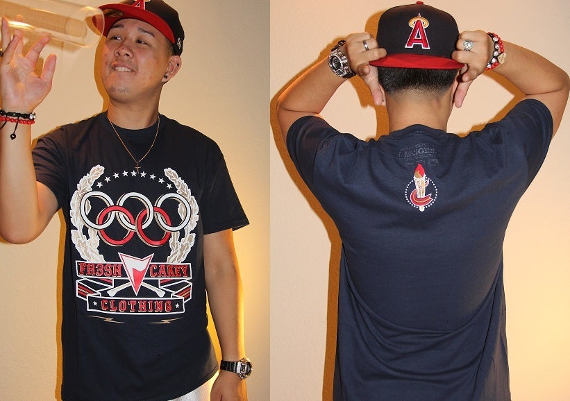 "Image of Fr3sh & Cakey ""Olympics"" Men's T-Shirt in Navy"