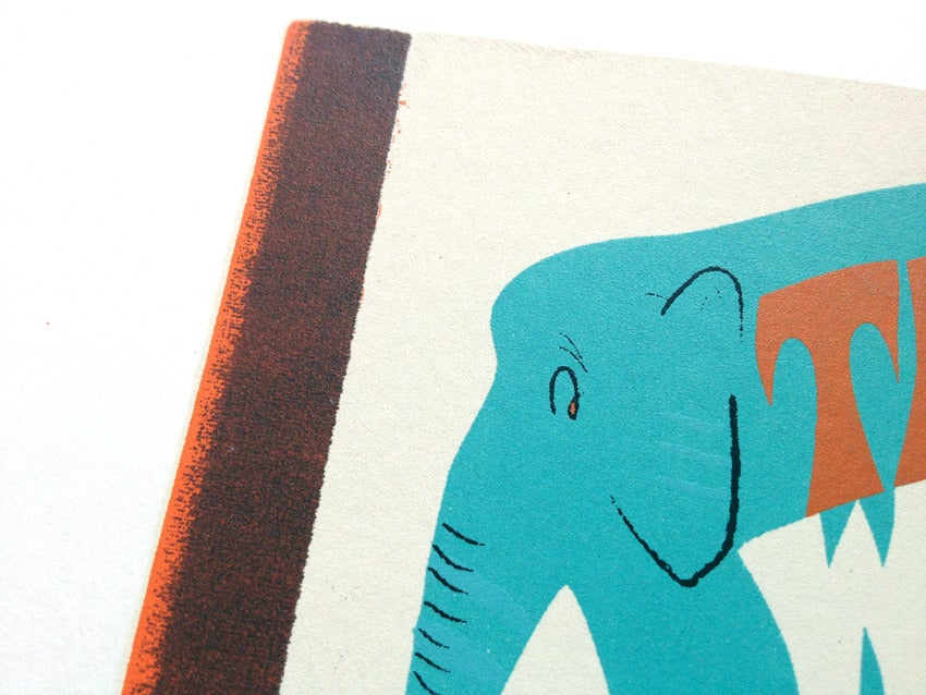 Image of Elephant Screen Print Limited Edition