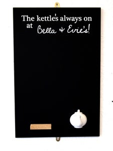 Image of personalised spout hook chalk board