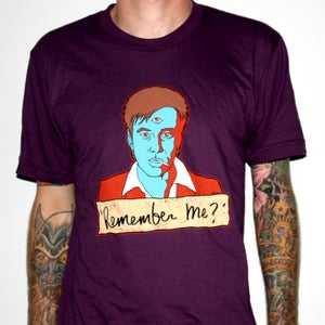 "Image of Bill Hicks ""Remember Me?"" by Jermaine Rogers T-Shirt - AA Eggplant"