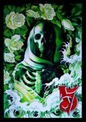 "Image of Carbon is Part of the Life Cycle- Green Skeleton Poster by Kore Flatmo- 24""x36"""