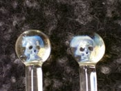 Image of Glass Skull Knitting Needles