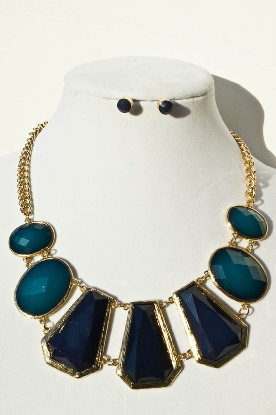 "Image of Turquoise Nature's Gem Necklace Set <p style=""color:yellow;"">NEW!</p>"