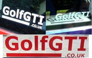 Image of golfgti.co.uk logo stickers