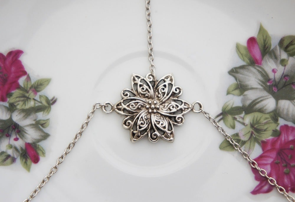 Image of Silver Floral Head Chain