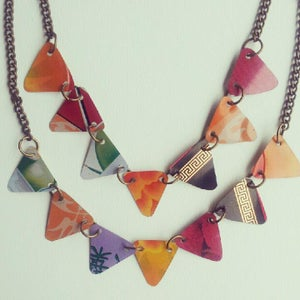 "Image of ""Tin Pan Alley"" Bunting Necklace"