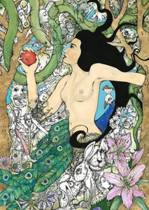 Image of 'Eve' Limited Edition Signed print with hand gold leaf & Ink detail