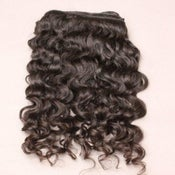Image of Remy Machine Weft--Natural Curly Hair