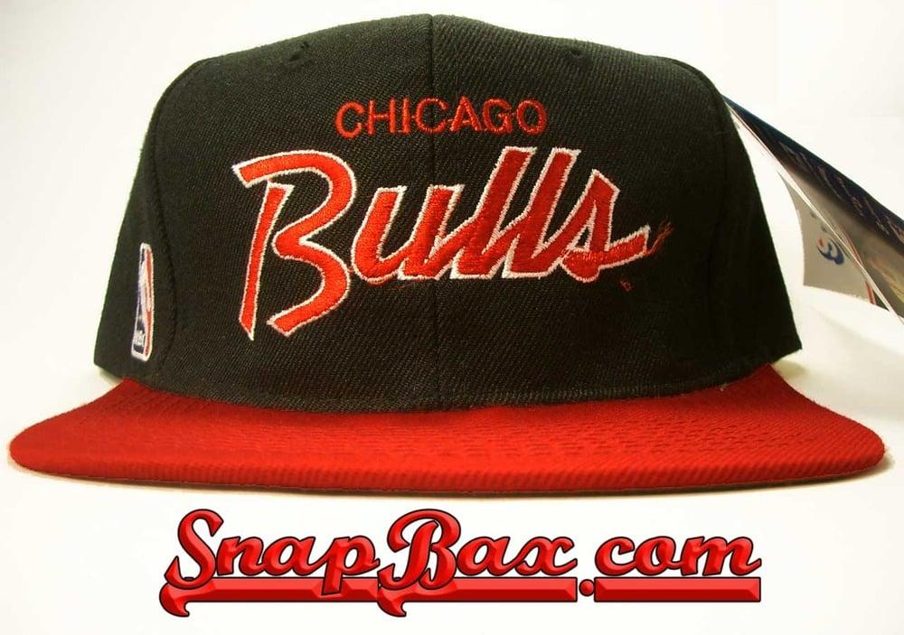 Image of Vintage Deadstock Chicago Bulls Sports Specialties Script Snapback