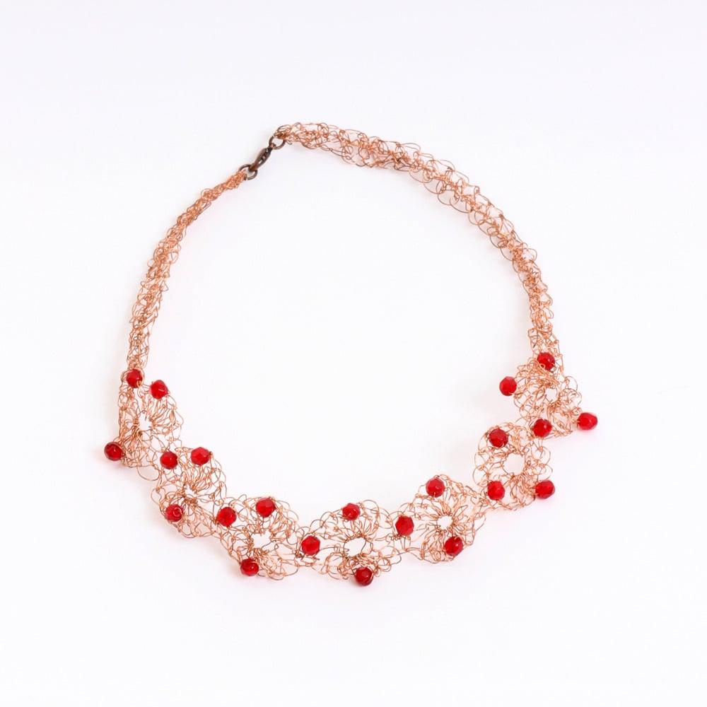 Taitus Imports Copper Crochet Wire Necklace