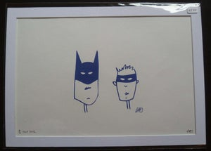 Image of Batman and Robin A4 Print