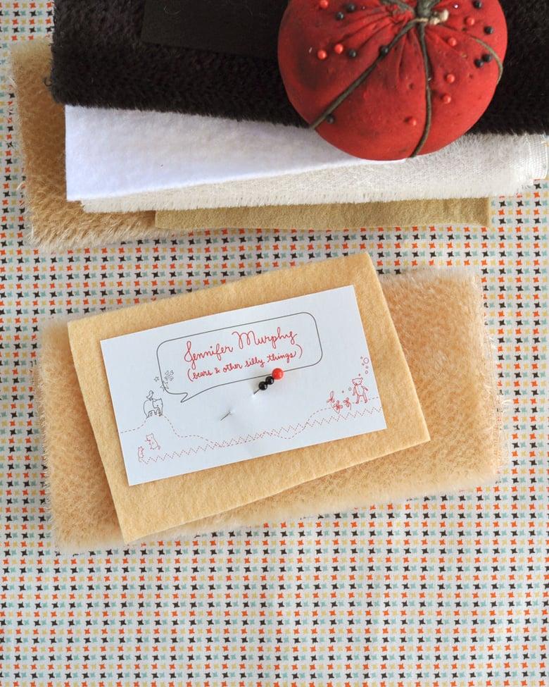 Image of SAM fabric, wool felt & eyes