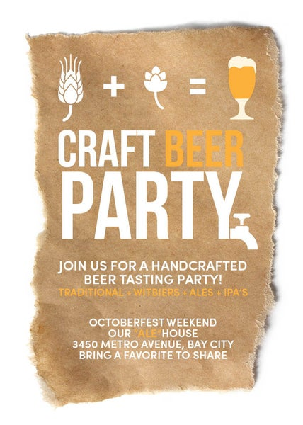 Image of Craft Beer Invitation (Octoberfest)