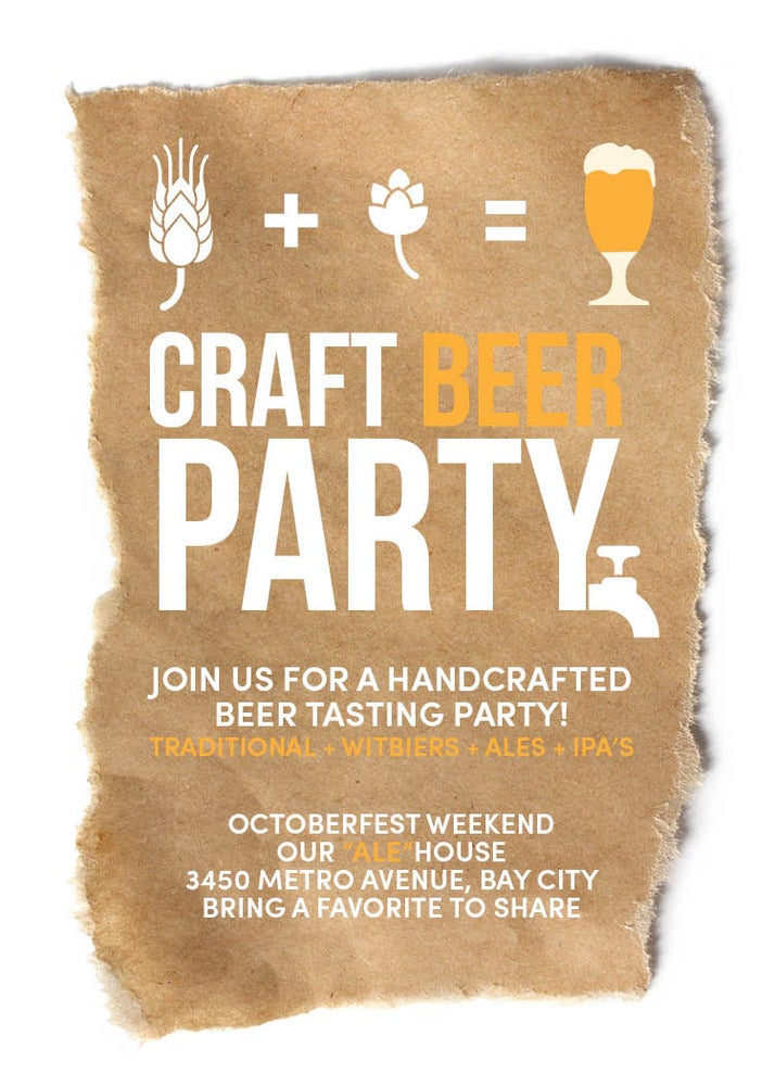 Craft Beer Invitation (Octoberfest)