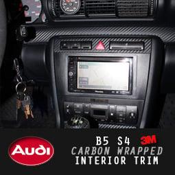 Image of PROJECT:B5 - B5 Audi S4/A4 3M DiNOC Carbon Fiber Wrapped Trim
