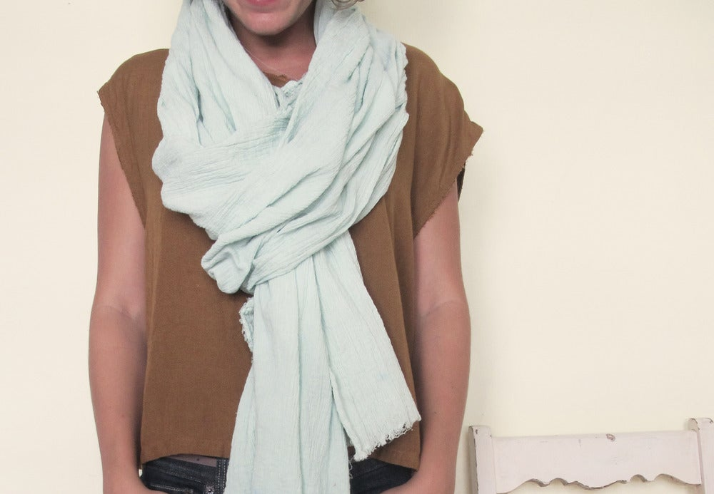 Image of By Hand : Mint Scarf
