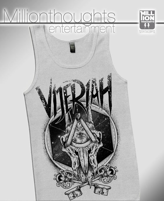 Image of Skulls 'n Keys - Tank - GREY