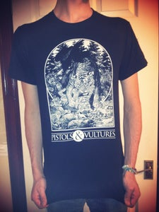 Image of NEW Black T-Shirt with Bone White Print