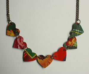 "Image of ""Tin Pan Alley"" Heart Necklace"
