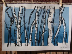 Image of Aspen Trunks Print