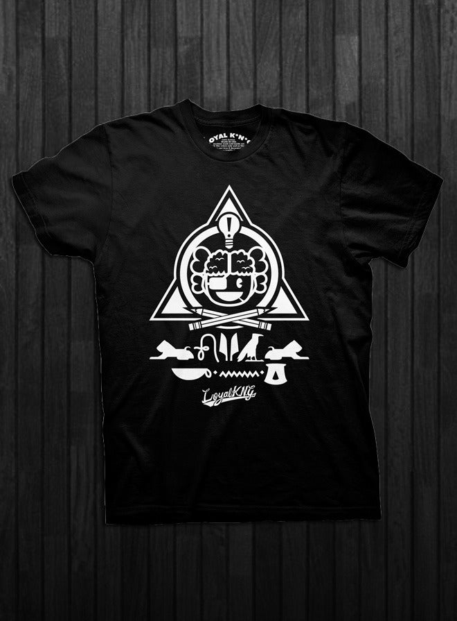 Image of Alpha Omega Atama (Black White-ink/Black Gold-Ink/Red)