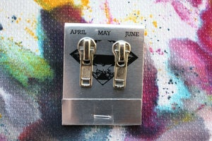 Image of Silver Zippers (Small), Zipper Pull Earrings