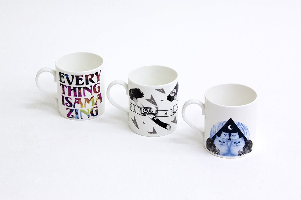 Image of Cut & Think & Drink Mug by JaguarShoes Collective