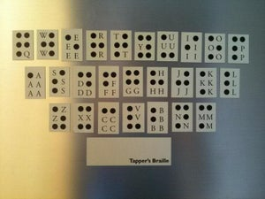 Image of Tappers Braille Fridge Magnets