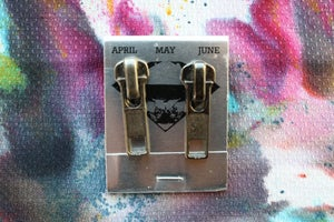 Image of Gunmetal Zippers (Big), Zipper Pull Earrings